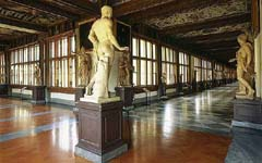 Uffizi and the David in a Morning